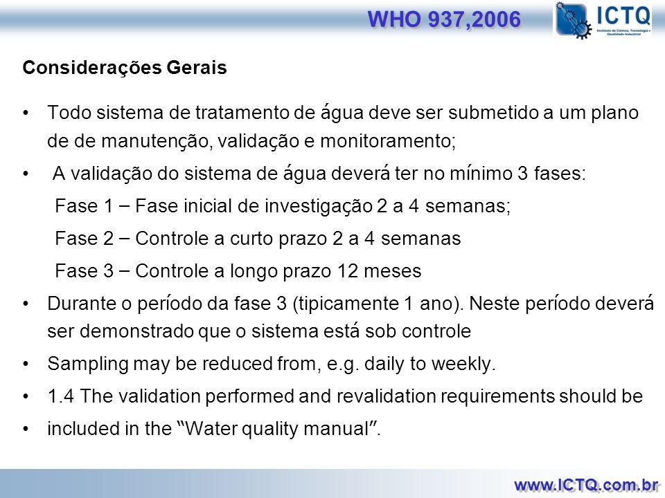 WHO 937,2006 Considerações Gerais
