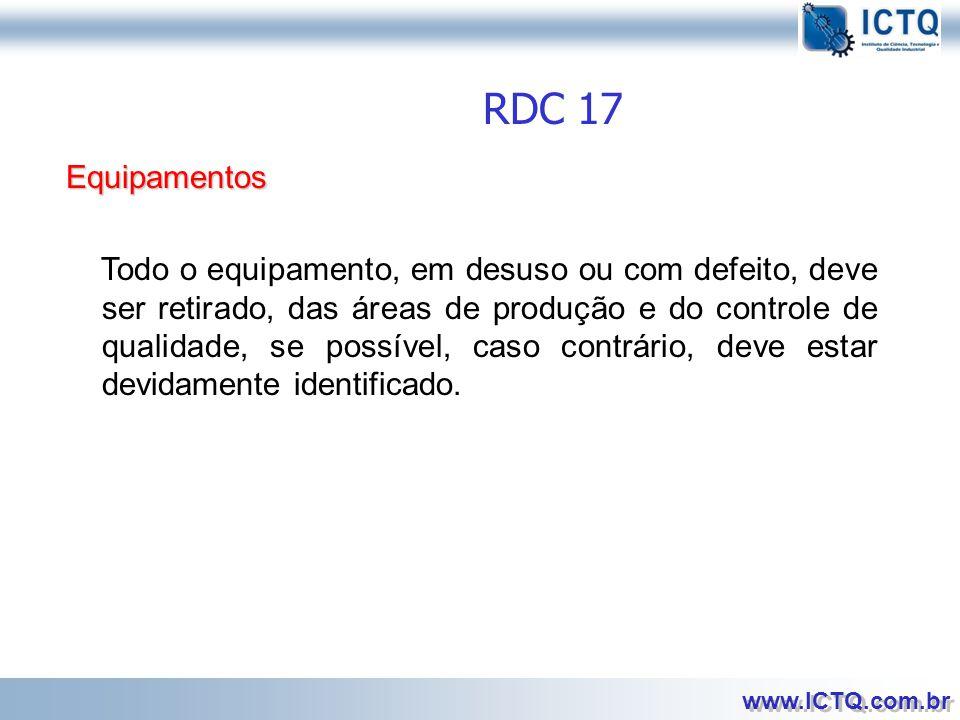 RDC 17 Equipamentos.