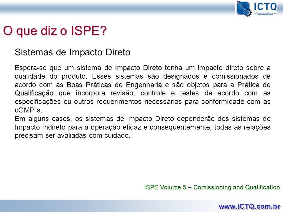 O que diz o ISPE Sistemas de Impacto Direto