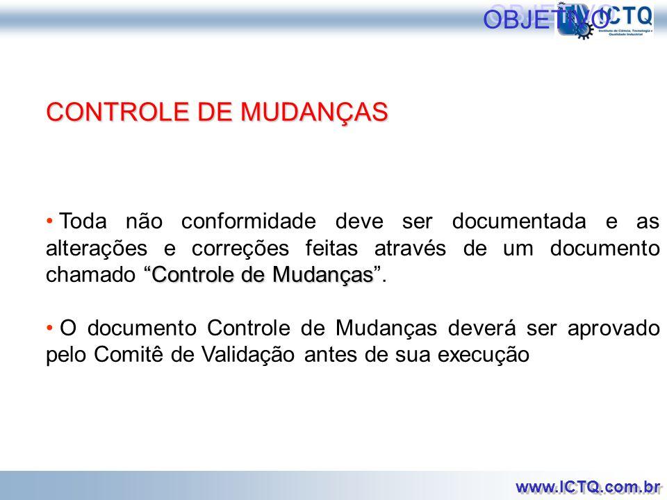 OBJETIVO CONTROLE DE MUDANÇAS