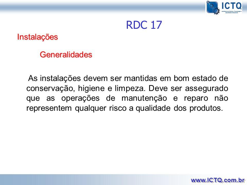 RDC 17 Instalações Generalidades