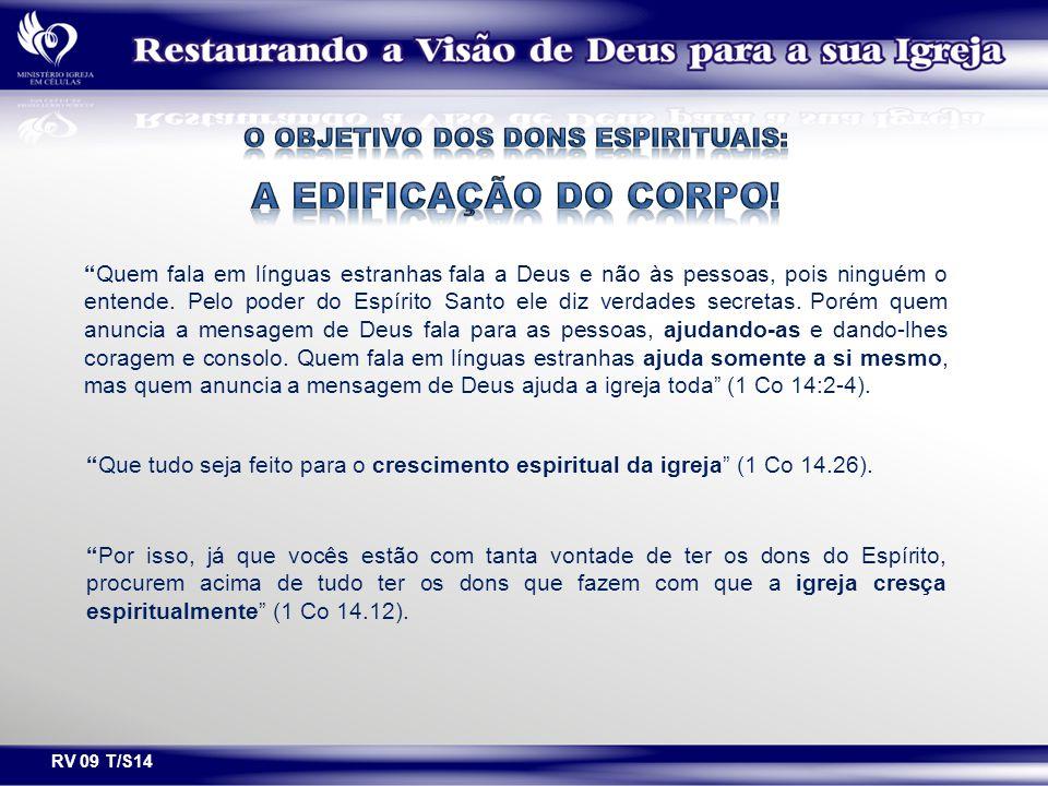 O OBJETIVO DOS DONS ESPIRITUAIS: