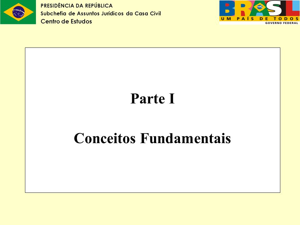 Parte I Conceitos Fundamentais