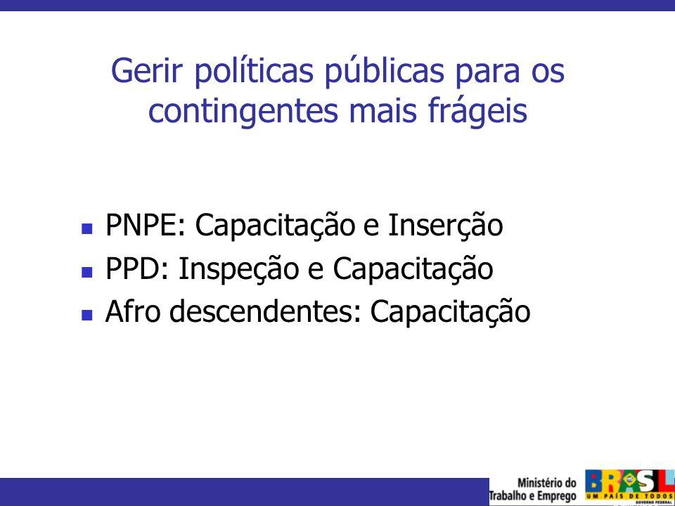 Gerir políticas públicas para os contingentes mais frágeis
