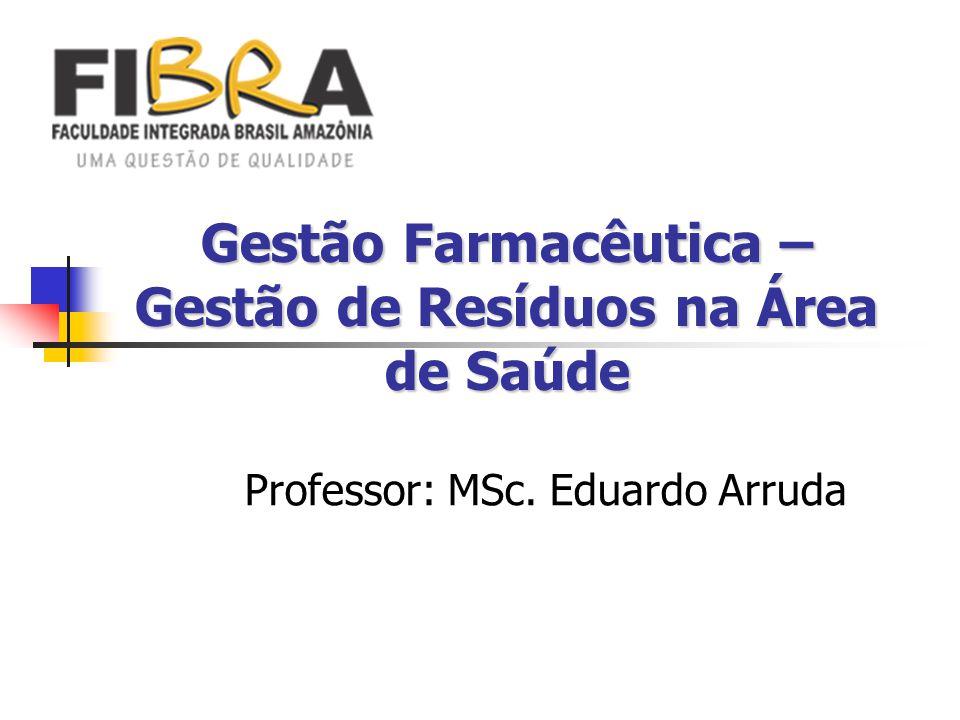 Gestão Farmacêutica – Gestão de Resíduos na Área de Saúde