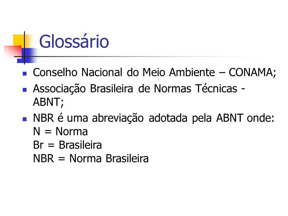 Glossário Conselho Nacional do Meio Ambiente – CONAMA;