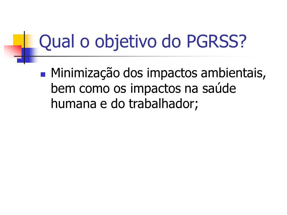 Qual o objetivo do PGRSS