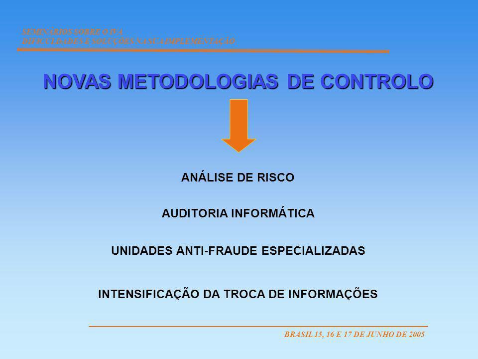 NOVAS METODOLOGIAS DE CONTROLO