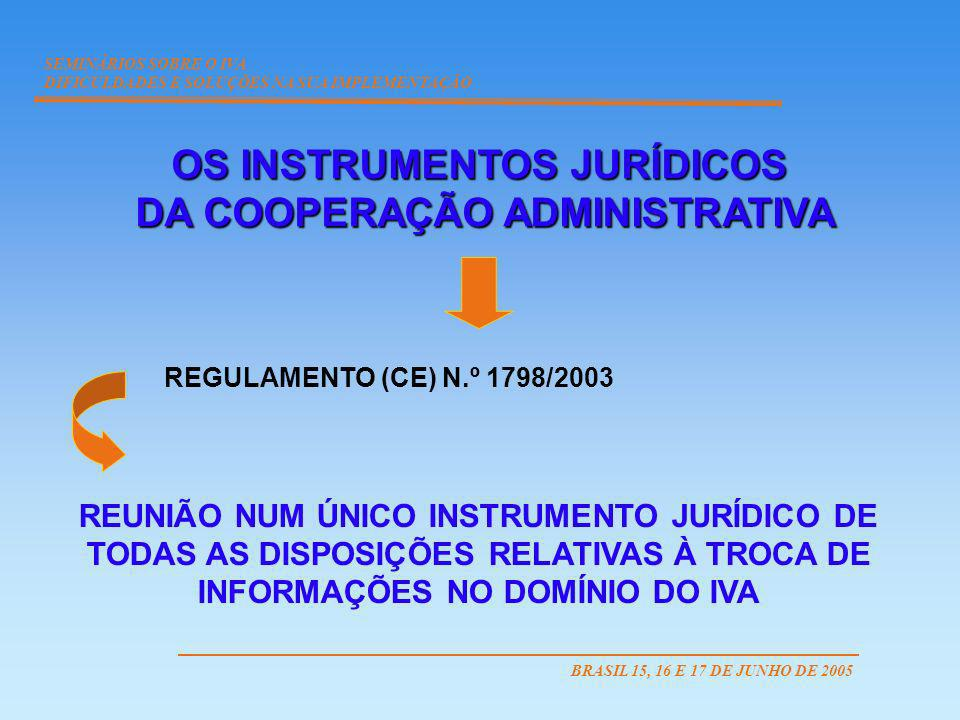 OS INSTRUMENTOS JURÍDICOS DA COOPERAÇÃO ADMINISTRATIVA