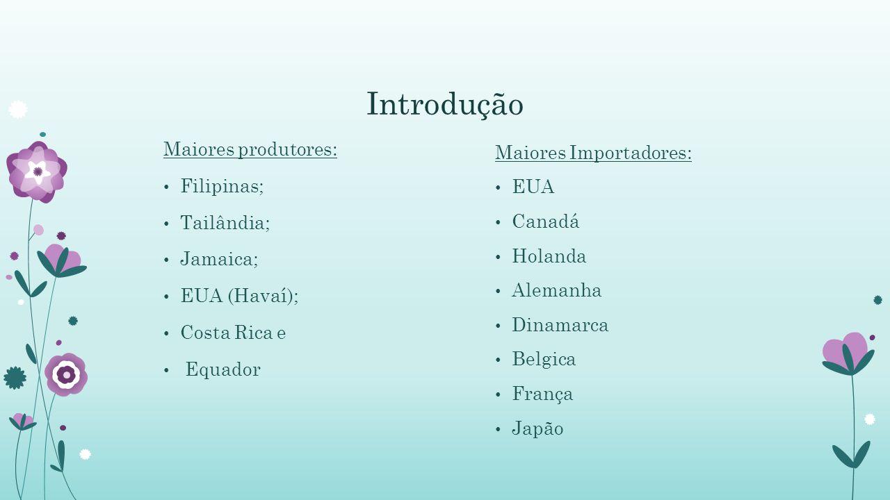 Introdução Maiores produtores: Filipinas; Tailândia; Jamaica;