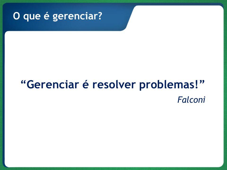 Gerenciar é resolver problemas!