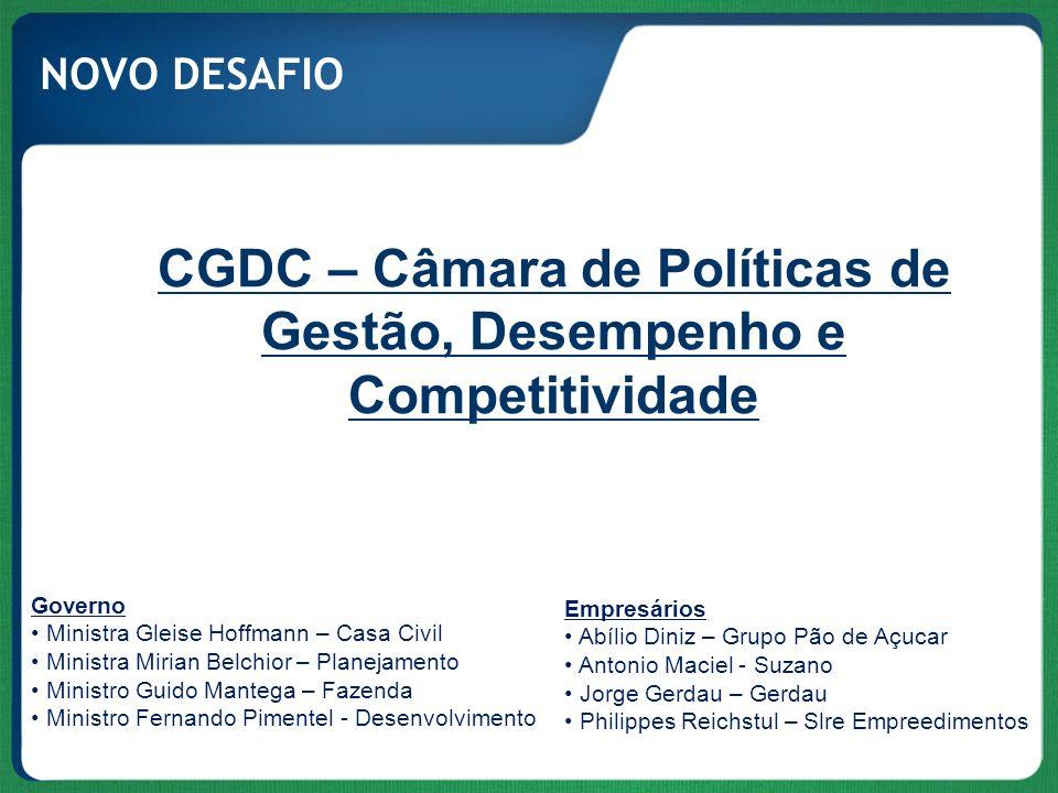 CGDC – Câmara de Políticas de Gestão, Desempenho e Competitividade