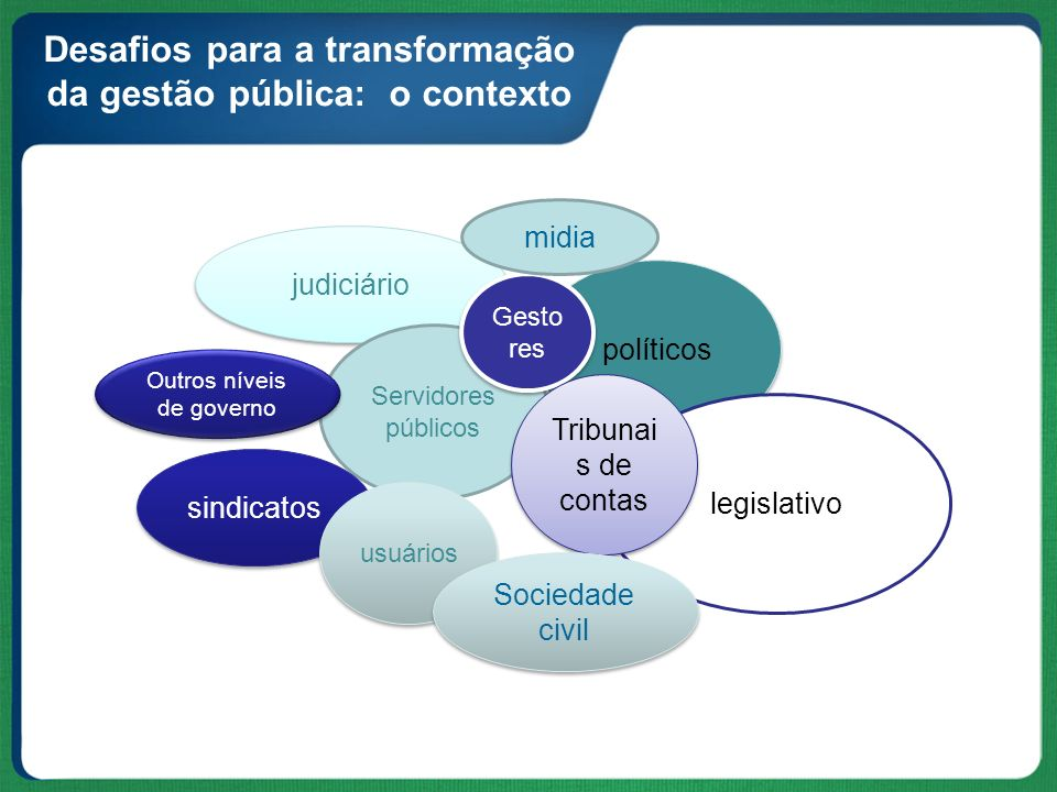 Desafios para a transformação da gestão pública: o contexto