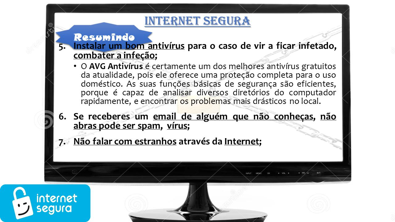 INTERNET SEGURA Resumindo