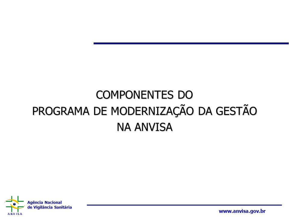 PROGRAMA DE MODERNIZAÇÃO DA GESTÃO
