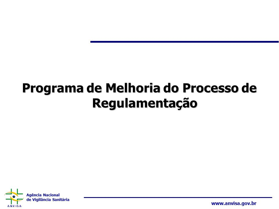 Programa de Melhoria do Processo de Regulamentação