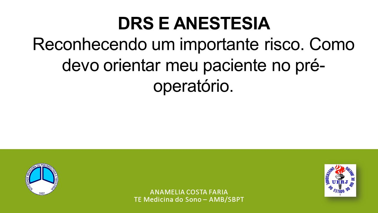 Anamelia Costa Faria TE Medicina do Sono – AMB/SBPT