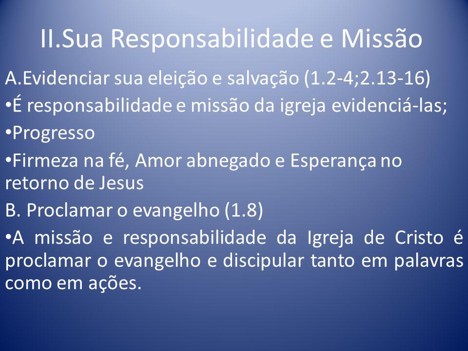 II.Sua Responsabilidade e Missão