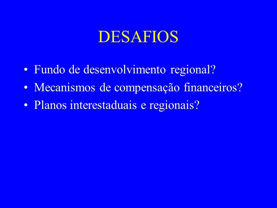 DESAFIOS Fundo de desenvolvimento regional