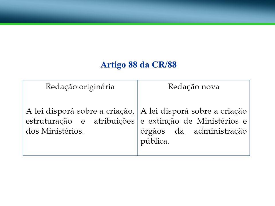 Artigo 88 da CR/88 Redação originária