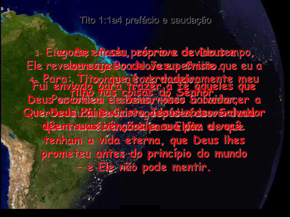 Tito 1:1a4 prefácio e saudação