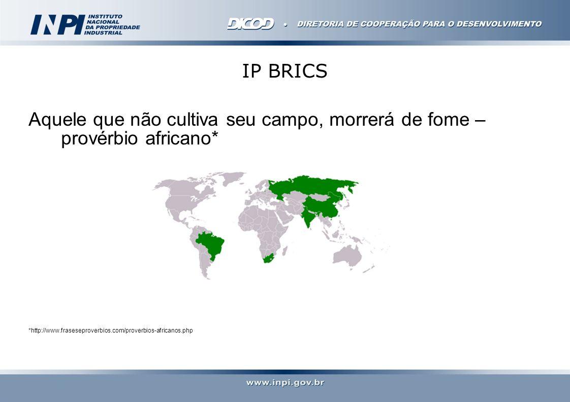 IP BRICS Aquele que não cultiva seu campo, morrerá de fome – provérbio africano* *http://www.fraseseproverbios.com/proverbios-africanos.php.