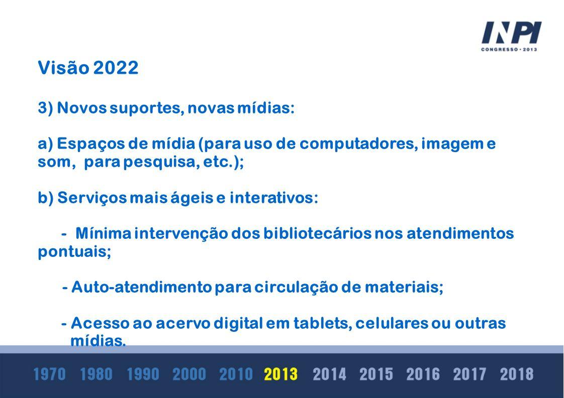 Visão 2022 3) Novos suportes, novas mídias: