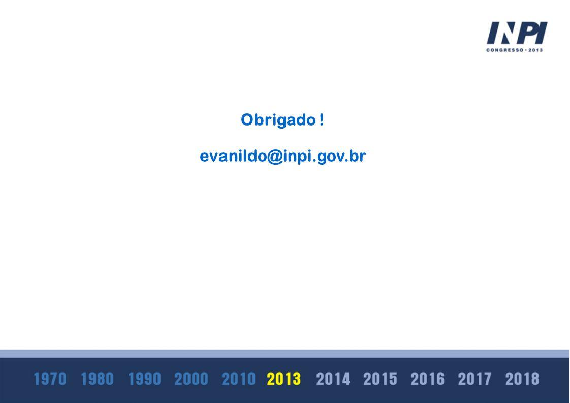 Obrigado ! evanildo@inpi.gov.br