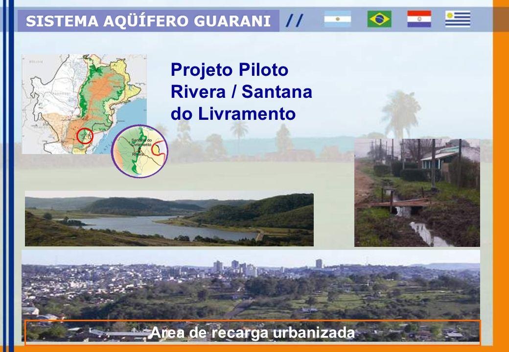 SISTEMA AQÜÍFERO GUARANI Area de recarga urbanizada
