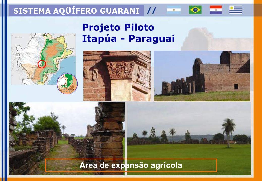 SISTEMA AQÜÍFERO GUARANI Area de expansão agrícola