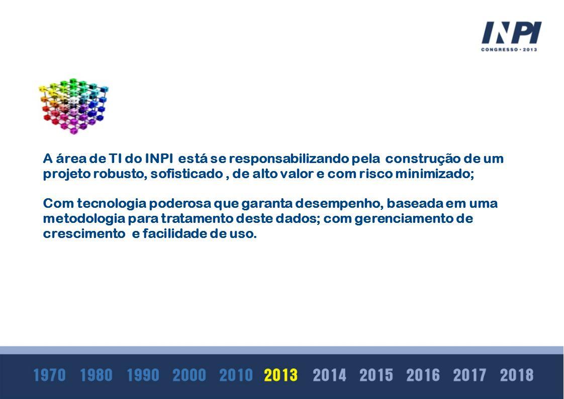 A A área de TI do INPI está se responsabilizando pela construção de um projeto robusto, sofisticado , de alto valor e com risco minimizado;
