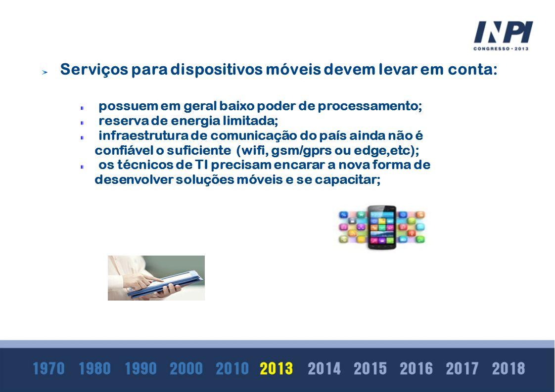 Serviços para dispositivos móveis devem levar em conta: