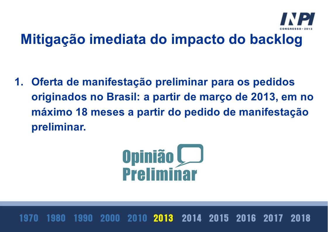 Mitigação imediata do impacto do backlog