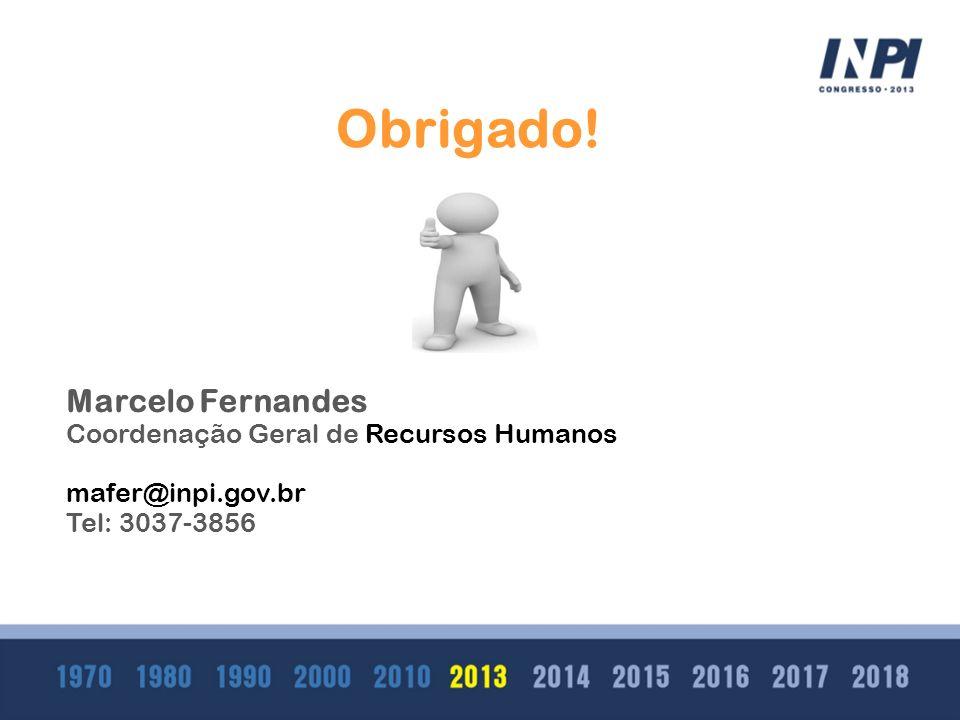 Obrigado! Marcelo Fernandes Coordenação Geral de Recursos Humanos