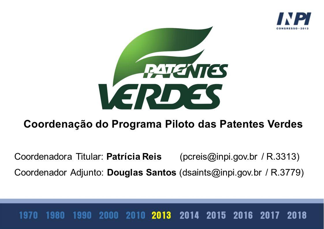 Coordenação do Programa Piloto das Patentes Verdes
