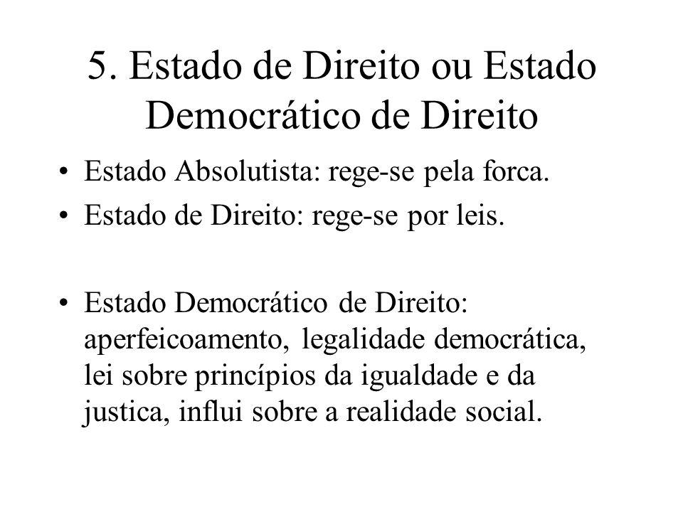 5. Estado de Direito ou Estado Democrático de Direito
