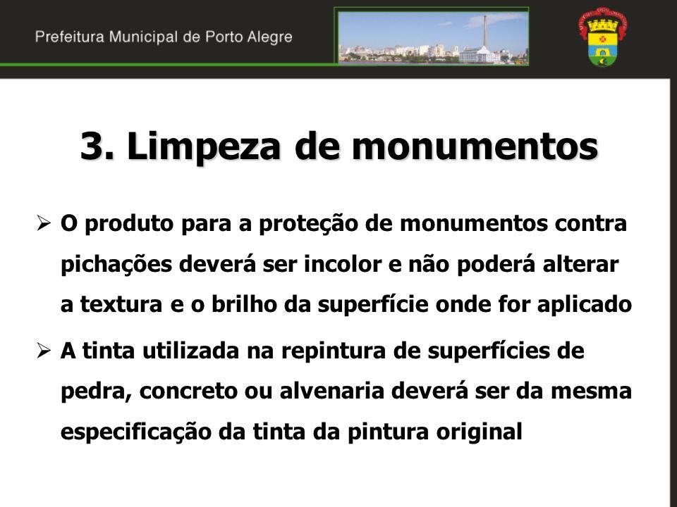 3. Limpeza de monumentos