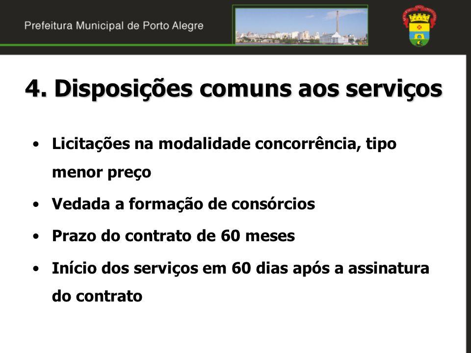 4. Disposições comuns aos serviços