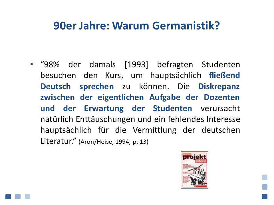 90er Jahre: Warum Germanistik
