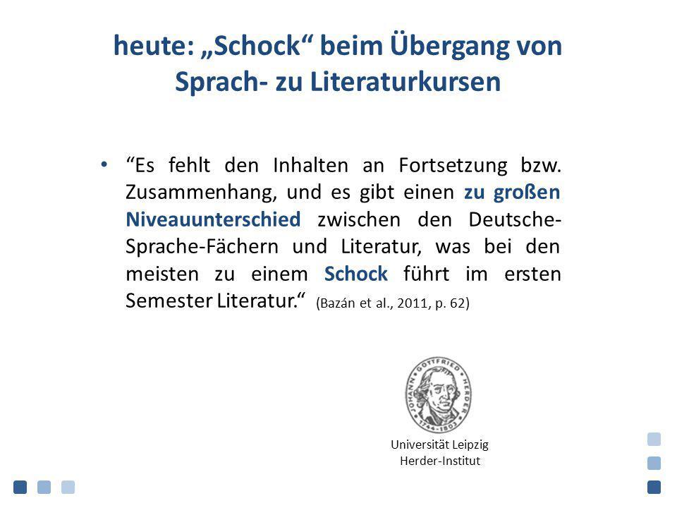 """heute: """"Schock beim Übergang von Sprach- zu Literaturkursen"""