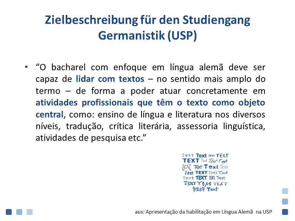 Zielbeschreibung für den Studiengang Germanistik (USP)