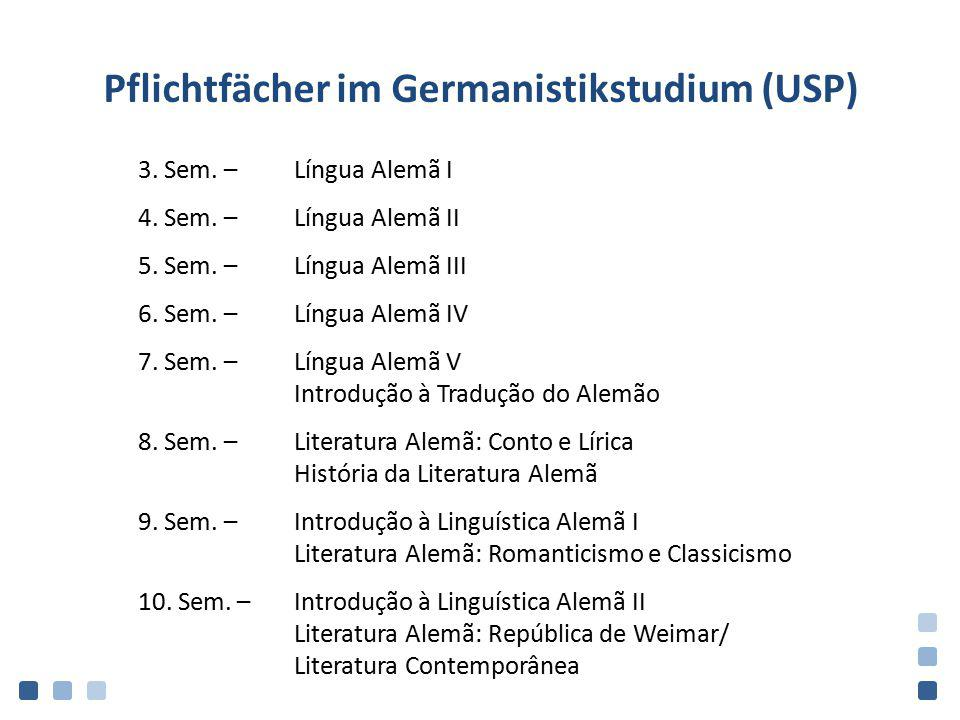 Pflichtfächer im Germanistikstudium (USP)