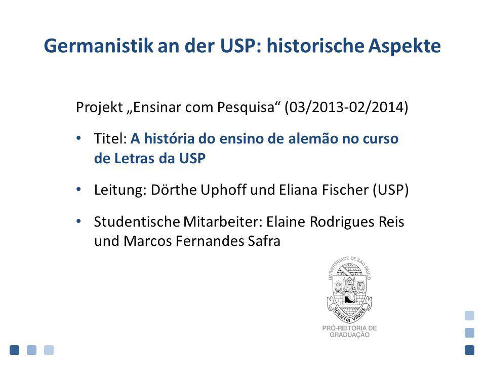 Germanistik an der USP: historische Aspekte