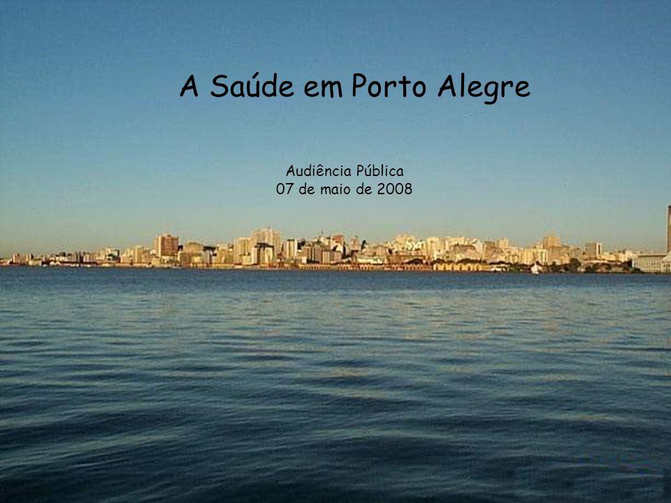 A Saúde em Porto Alegre Audiência Pública 07 de maio de 2008