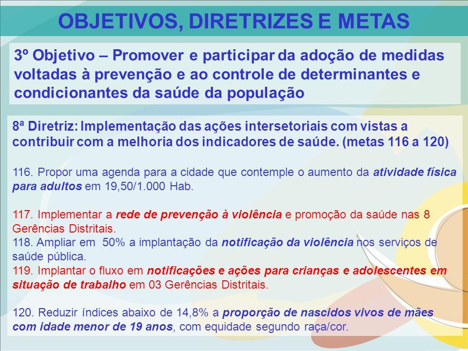 OBJETIVOS, DIRETRIZES E METAS