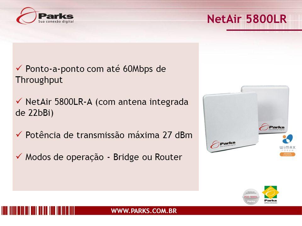 NetAir 5800LR Ponto-a-ponto com até 60Mbps de Throughput