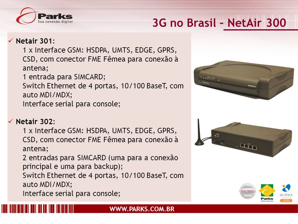 3G no Brasil – NetAir 300 Netair 301: