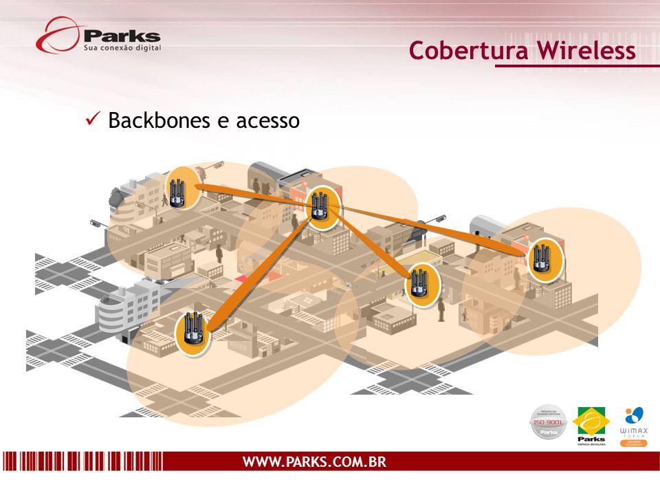 Cobertura Wireless Backbones e acesso WWW.PARKS.COM.BR