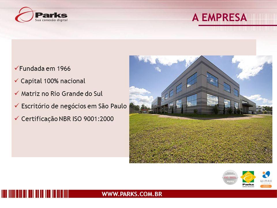 A EMPRESA Fundada em 1966 Matriz no Rio Grande do Sul