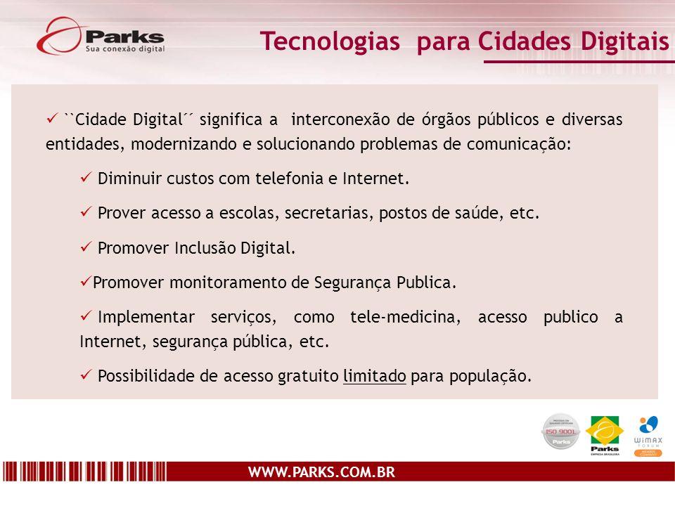 Tecnologias para Cidades Digitais